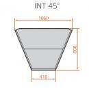 LCC Carina 03 INT45 - Vnútorná rohová vitrína 45°