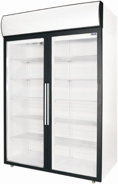 DM114 - Dvojdverová vitrínová chladnička