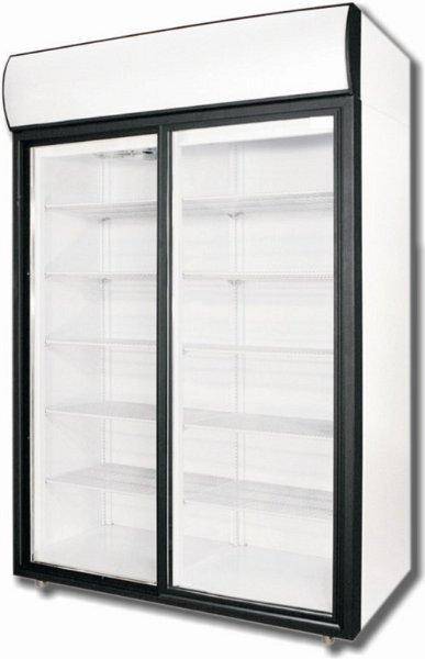 DM114SD - Dvojdverová vitrínová chladnička