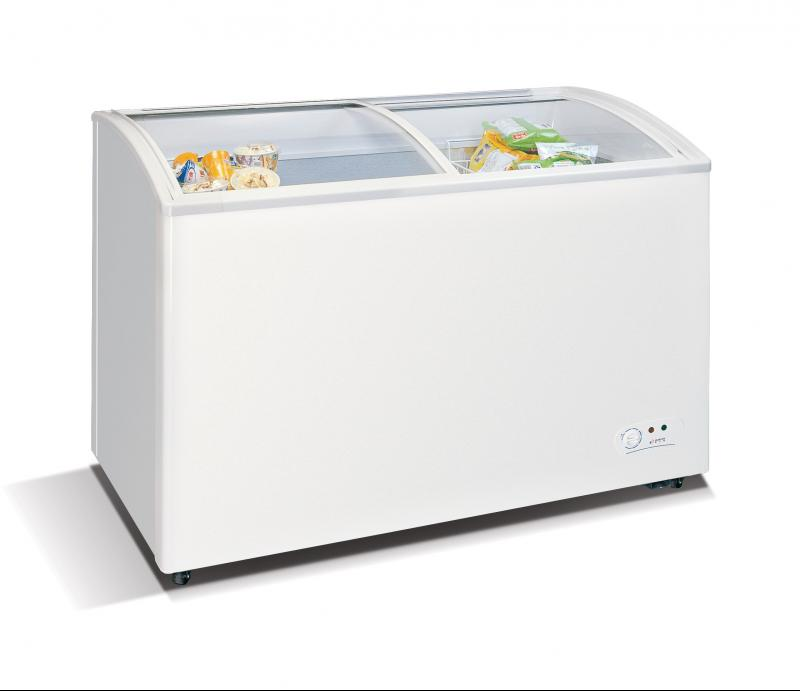 Wd 330y Chest Freezer With Slanting Sliding And Convexed Glass Door
