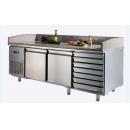 GNTC800 L2 D7 - Chladený pracovný stôl s 2 dverami a 7 zásuvkami
