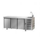 TF03MIDGNL C31C22C | Trojdverový pracovný stôl s drezom a zásuvkami