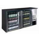 TC-BB-2GDI INOX nerezová barová chladnička s dvomi sklenenými dverami