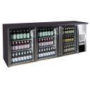 TC-BB-3GDI INOX nerezová barová chladnička s tromi sklenenými dverami