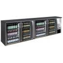 TC-BB-4GD INOX nerezová barová chladnička so štyrmi sklenenými dverami