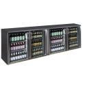 TC-BB-4GDRI INOX nerezová barová chladnička so štyrmi sklenenými dverami