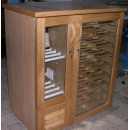 HOME - Wooden wine cooler (walnut or mahogany)