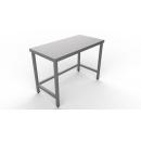 Nerezový pracovný stôl so spojenými nohami 600