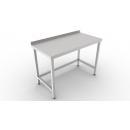 Nerezový pracovný stôl s lemom a spojenými nohami 600