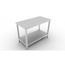 Nerezový pracovný stôl so spodnou policou 600