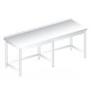 RM HHF 700 - Nerezový dlhý pracovný stôl so zadným lemom 700 mm