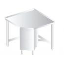 3110 - Nerezový pracovný stôl 600 mm