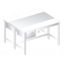 DM-P-3107 Nerezový pracovný stôl 1400mm