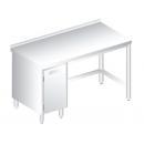 3111 - Nerezový pracovný stôl 600 mm