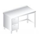 3112 - Nerezový pracovný stôl 600 mm