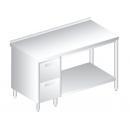 3114 - Nerezový pracovný stôl 600 mm