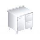3120 - Nerezový pracovný stôl 600 mm