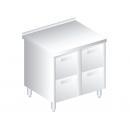 3121 - Nerezový pracovný stôl 600 mm