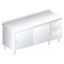 3126 - Nerezový pracovný stôl 600 mm