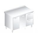 3127 - Nerezový pracovný stôl 600 mm