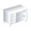 3129 - Nerezový pracovný stôl 600 mm