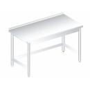RMHF 700 - Nerezový pracovný stôl so zadným lemom 700 mm