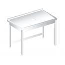RM M 600 - Nerezový pracovný stôl s otvorom na odpadky 600 mm