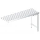 3277 - Nerezový pracovný stôl s valčekmi 634 mm