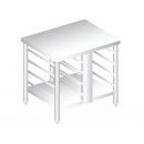 3143 - Nerezový pracovný stôl 720 mm