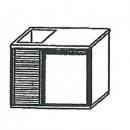 SL | Chladiaci stôl s jednými dverami a vaničkou