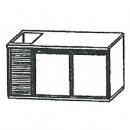 SL | Chladiaci stôl s dvomi dverami a vaničkou