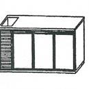 SL | Chladiaci stôl s tromi dverami a vaničkou