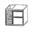 SL | Chladiaci stôl s 2 zásuvkami a vaničkou
