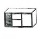 SL | Chladiaci stôl s 2 zásuvkami a 1 dverami