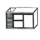 SL | Chladiaci stôl s 2 zásuvkami, 1 dverami a vaničkou