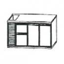 SL | Chladiaci stôl s 2 zásuvkami, 2 dverami a vaničkou