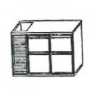 SL | Chladiaci stôl so 4 zásuvkami a vaničkou