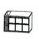 SL | Chladiaci stôl so 6 zásuvkami a vaničkou