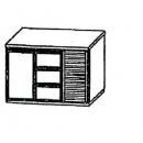 SL | Chladiaci stôl s 3 zásuvkami a 1 dverami