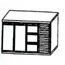 SL | Chladiaci stôl s 3 zásuvkami a 2 dverami