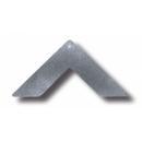 Ocelový rohový plát k skrytému spoju - 20 mm