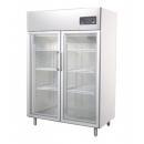 GNC1400L2G Dvojdverová vitrínová nerezová chladnička