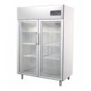 GNC1400L2G Glass door INOX refrigerator