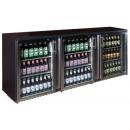 TC-BB-3GDRI INOX nerezová barová chladnička s tromi sklenenými dverami