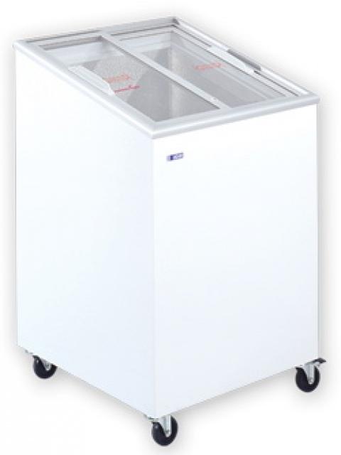 Udd 100 Sce Chest Freezer With Slanting Sliding Glass Door