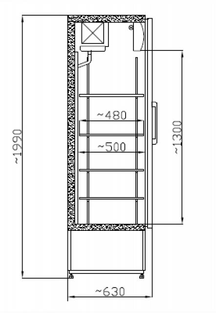 SCH 601 INOX Nerezová vitrína
