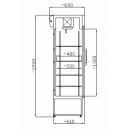 SCH 602 INOX Nerezová vitrína so sklenými dverami