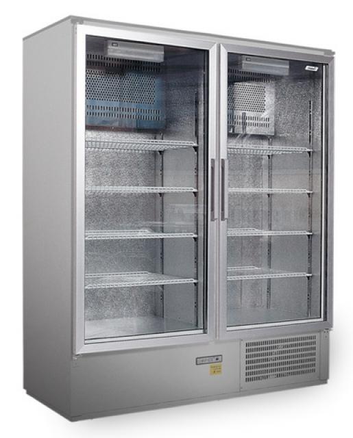 Sch 800s Inox Cooler With Double Glass Doors