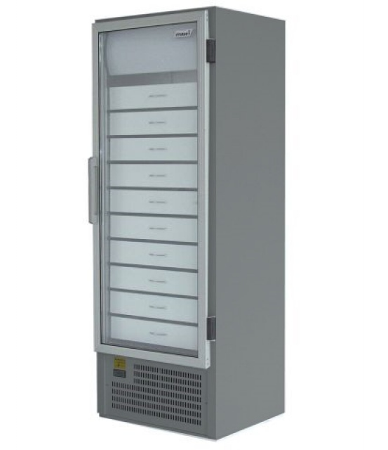 SCHA 401 INOX - Lekárenská vitrínová chladnička so zásuvkami