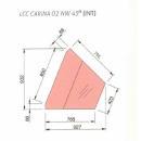 LCC Carina 02 INT45 | Vnútorná rohová cukrárenská vitrína